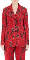 Derek Lam Women's Floral Jacquard Two-Button Jacket