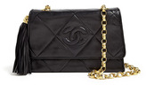 Chanel Black Leather Quilted Tassle Shoulder Bag