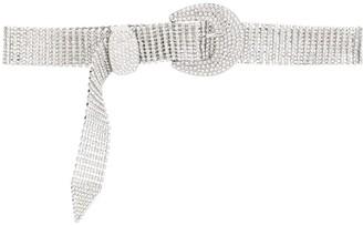 B-Low the Belt Crystal-Embellished Buckled Belt