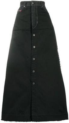 Diesel long A-line skirt