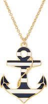 Liz Claiborne Stripe Anchor Gold-Tone Pendant Necklace