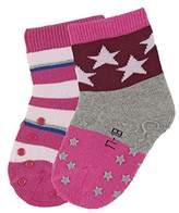 Sterntaler Baby Girls' Abs-Krabbelsöckchen DP Sterne Calf Socks-Pack of 2-, 5
