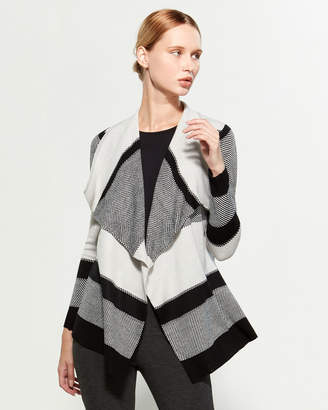 Cable & Gauge Color Block Open Duster Cardigan