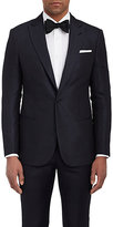 Giorgio Armani Men's Dot-Pattern Silk Jacquard One-Button Jacket