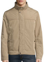 Dockers Faux Memory Rib Knit Stand Collar Bomber