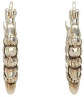 Pamela Love Silver Tribal Spike Hoop Earrings