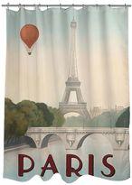 Thumbprintz Paris City Skyline Fabric Shower Curtain
