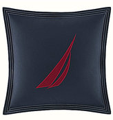 Nautica Heritage Classic Collection J Class Embroidered Square Pillow