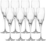 Mikasa Capella Set of 8 Crystal Champagne Flute Glasses