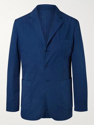 Aspesi Dark-Blue Slim-Fit Unstructured Garment-Dyed Cotton-Gabardine Blazer