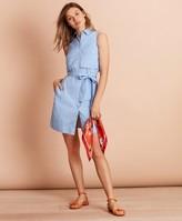 Brooks Brothers Striped Cotton Poplin Shirt Dress