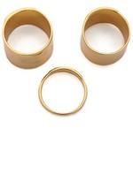 Gorjana Camila Beveled Ring Set