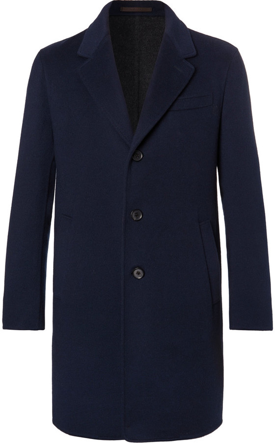 Caruso Butterfly Slim-Fit Unstructured Wool and Cashmere-Blend Overcoat