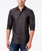 Alfani Collection Men's Textured Heather Long-Sleeve Shirt, Classic Fit, Only at Macy's