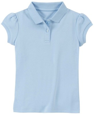 Chaps Toddler Girl Picot-Trim Polo