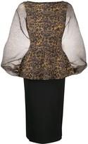 Chiara Boni Le Petite Robe Di Hasana snakeskin-print midi dress