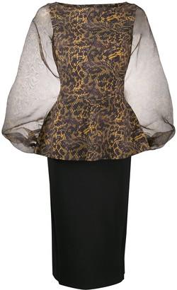 Le Petite Robe Di Chiara Boni Hasana snakeskin-print midi dress