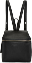 Kara Black Leather Small Backpack