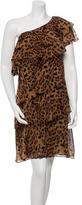 Rachel Zoe Silk One-Shoulder Dress