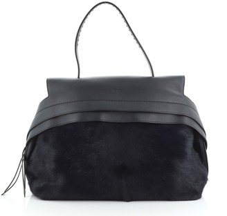 Tod's Wave Bag Pony Hair and Leather Small