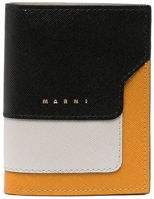 Marni Saffiano leather bi-fold wallet