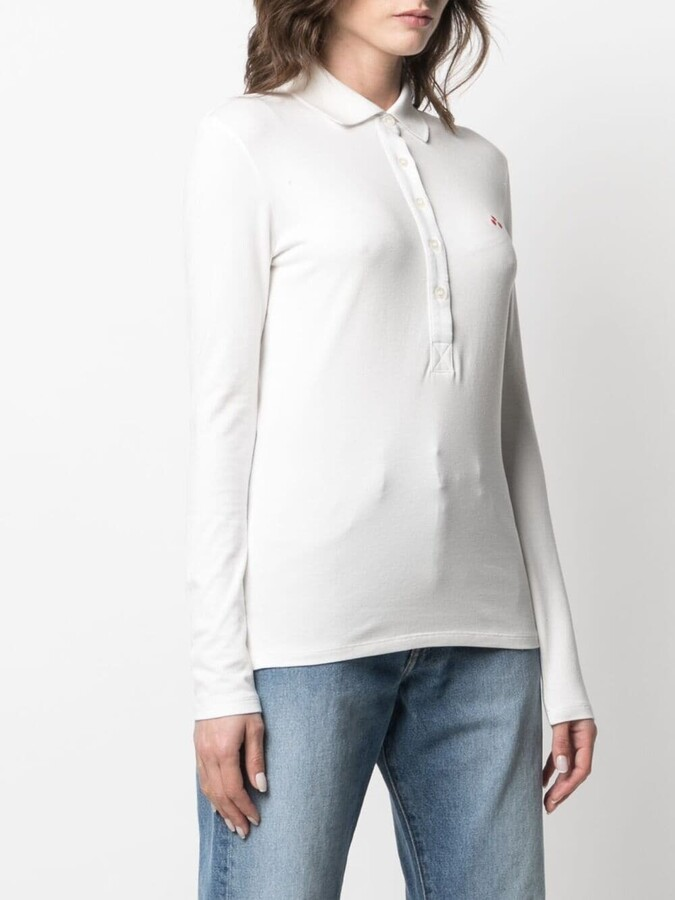 Thumbnail for your product : Peuterey Logo-Patch Long-Sleeved Polo Shirt