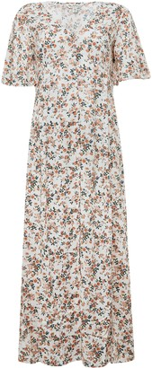 Miss Selfridge Peach Floral Print Maxi Dress
