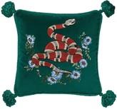 Gucci Snake Embroidered Velvet Pillow