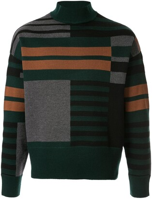 Cerruti Geometric Knitted Jumper