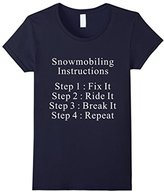 Lego Women's Snowmobiling Instructions T-Shirt XL