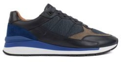 HUGO BOSS Running Inspired Hybrid Sneakers With Pop Color Accents - Open Blue
