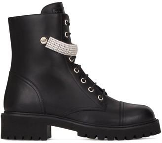 Giuseppe Zanotti Crystal-Strap Boots