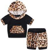 2017 Charberry Toddler Baby Boy Girl Tops T-shirt + Shorts Pants Clothes