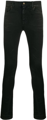 Saint Laurent Lightly Coated Skinny Jeans