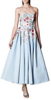 Marchesa Floral-Motif Fit-and-Flare Gown