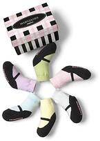 Trumpette Girls' Mary Jane Pastel Socks, 6 Pack - Baby
