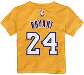 adidas Toddlers' Kobe Bryant Los Angeles Lakers Warriors Name And Number T-Shirt