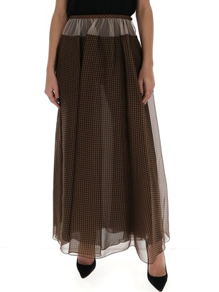 Fendi Checked Maxi Skirt