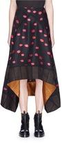 Proenza Schouler Ikat dot fil coupé jacquard skirt