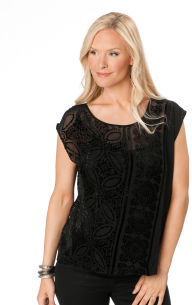A Pea in the Pod 7 For All Mankind Cap Sleeve Back Interest Maternity Shirt