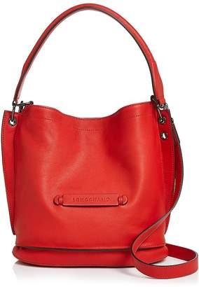 Longchamp 3-D Leather Crossbody Hobo