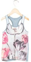 Stella McCartney Girls' Floral Print Racerback Top
