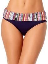 Jet Set Stripe Fold-Over Bikini Bottom