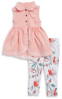Calvin Klein Girls 2-6x Little Girls Tulip Tunic and Floral Leggings Set