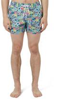 Topman Jazzy Print Swim Trunks