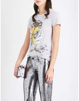 Moschino Rat-print Cotton-jersey T-shirt