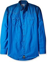 Wrangler Men's Big and Tall Rock 47 Two Pocket Snap Front Long Sleeve Shirt
