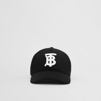 Burberry Monogram Motif Cotton Jersey Baseba Cap