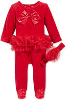 First Impressions Baby Girls' 2-Pc. Velour Headband & Footed Tutu Coverall Set, Only at Macy's