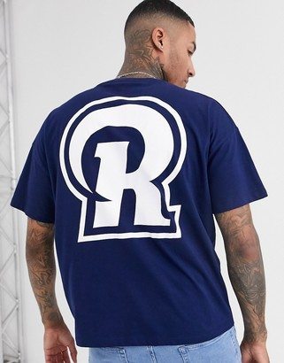 Asos Design DESIGN NFL Los Angeles rams oversized t-shirt with front and back print-Blue